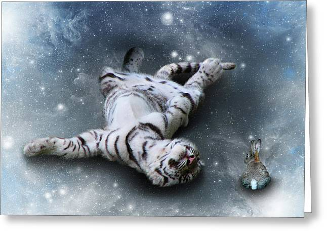 Fiona Floyd And The Freeze Greeting Card by Julie L Hoddinott