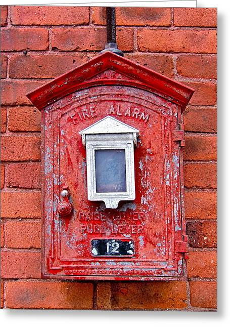 Fire Alarm Box No. 12 Greeting Card by Richard Mansfield