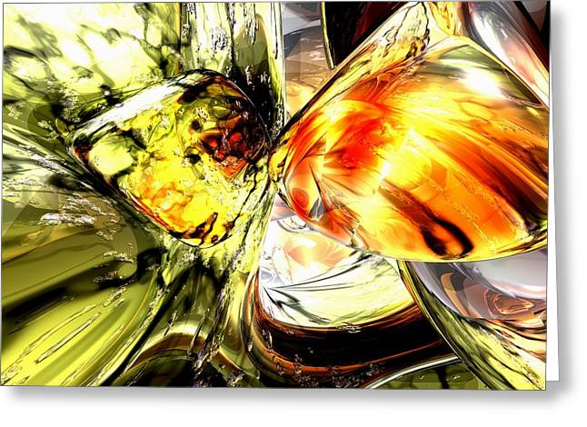 Fire And Desire Abstract Greeting Card by Alexander Butler