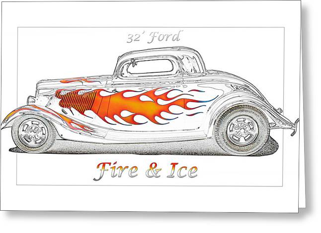 Fire And Ice Greeting Card by Michael Gass