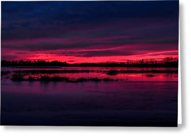 Fire And Ice Sunrise Greeting Card
