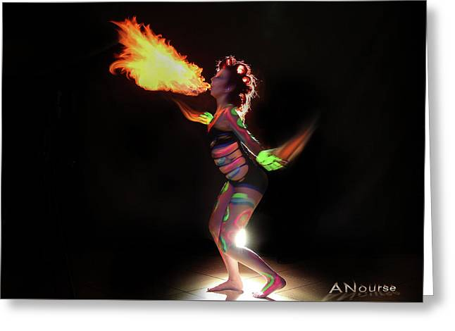 Fire Blowin Greeting Card