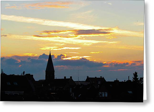 Fire Clouds Greeting Card by Cesar Vieira