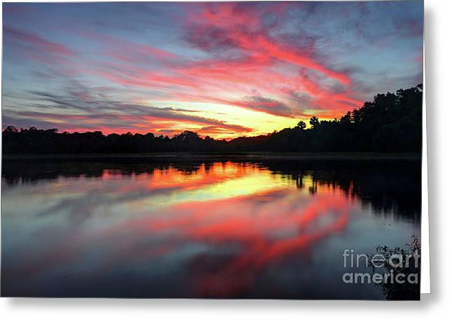 Fire Clouds Greeting Card by Rick Mann