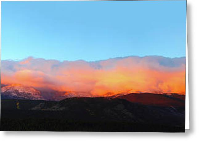 Fire Clouds - Panorama Greeting Card