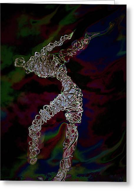 Greeting Card featuring the photograph Fire Dancer by Irma BACKELANT GALLERIES