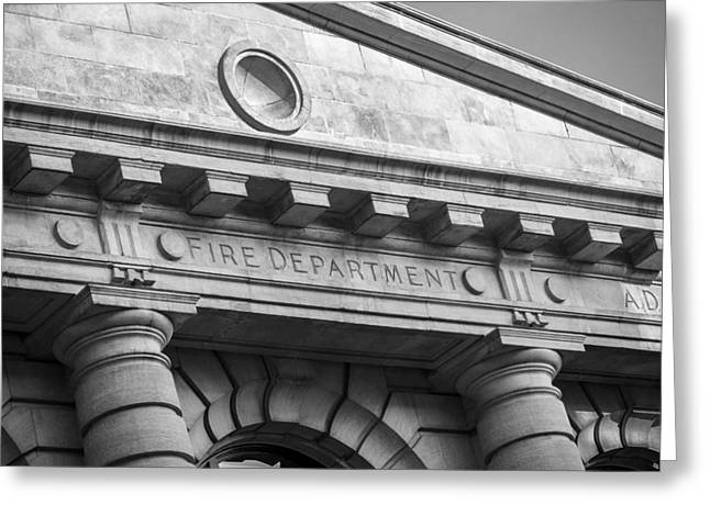 Fire Department Headquarters Greeting Card by Steven Bateson