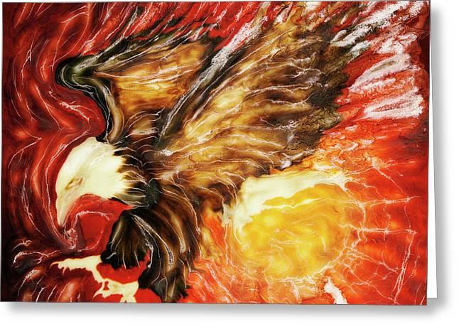Fire Eagle Greeting Card by Paul Tokarski