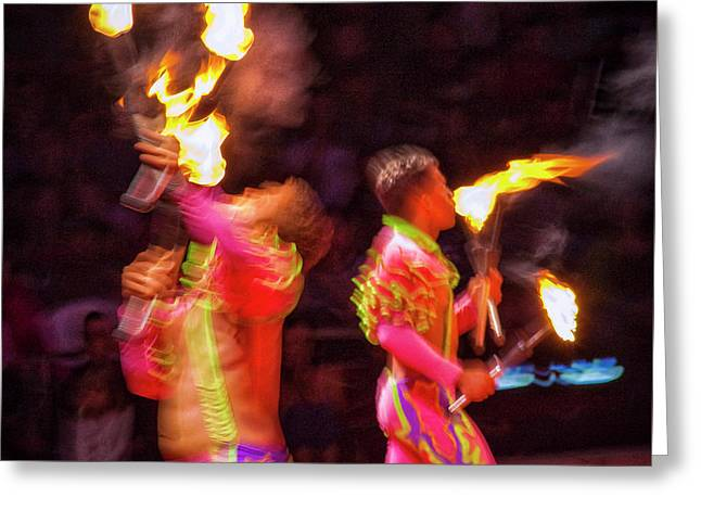Fire Eaters Greeting Card