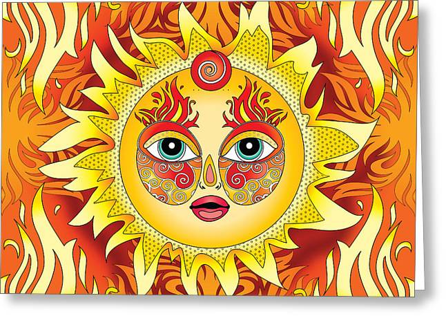 Fire Element Greeting Card