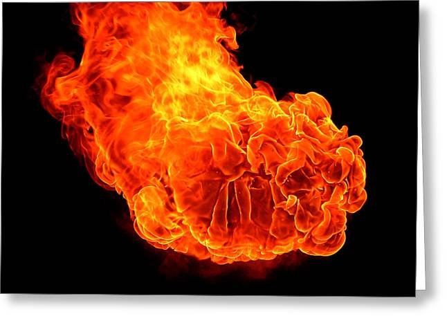 Fire Greeting Card by Emanuel Tanjala