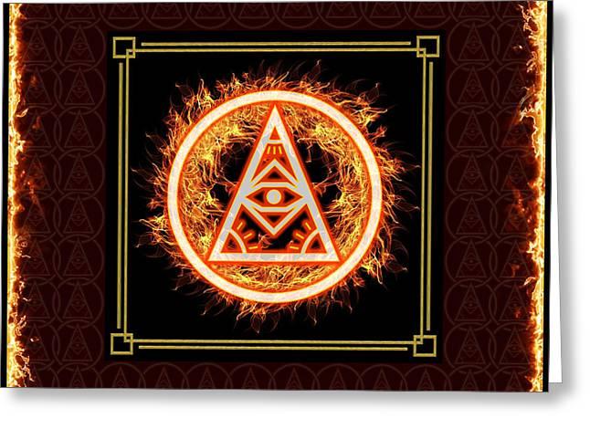 Greeting Card featuring the digital art Fire Emblem Sigil by Shawn Dall