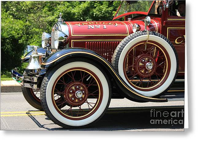 Greeting Card featuring the photograph Fire Engine Red 2 by Nicola Fiscarelli
