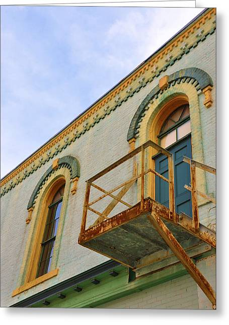 Fire Escape Greeting Card by Jan Amiss Photography
