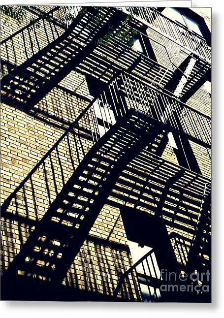 Fire Escape Greeting Card by Sarah Loft