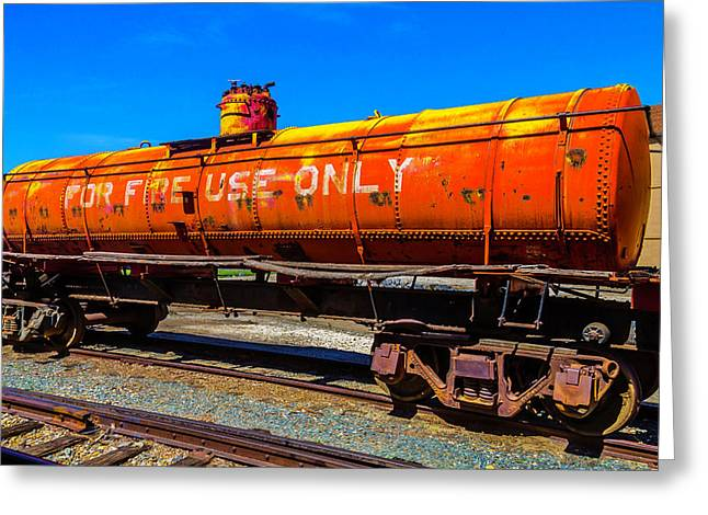 Fire Fighting Tanker Greeting Card