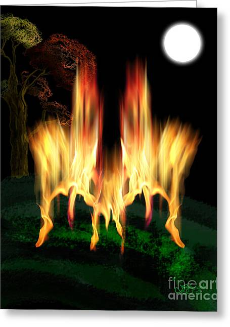 Fire Fly Greeting Card by Linda Seacord