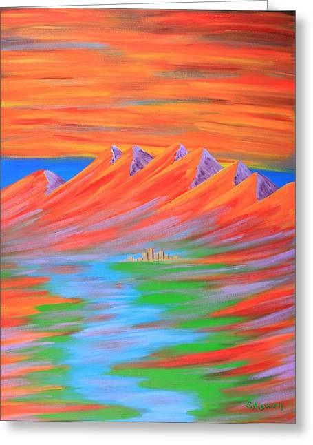Fire Greeting Card by Gary Rowell