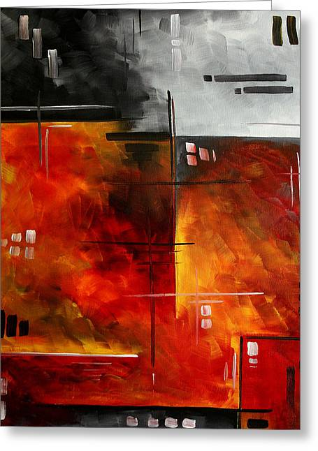 Fire Hazard Original Madart Painting Greeting Card