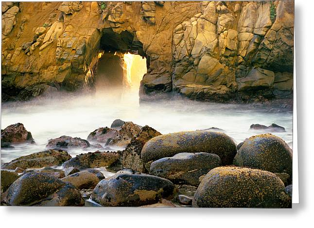 Fire Hole Greeting Card by Edward Mendes