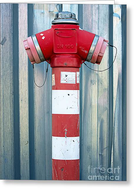 Fire Hydrant Steel Wall Greeting Card