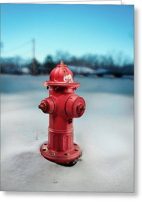 Exterior Greeting Cards - Fire Hydrant Greeting Card by Yo Pedro