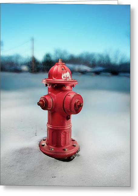 Fire Hydrant Greeting Card by Yo Pedro