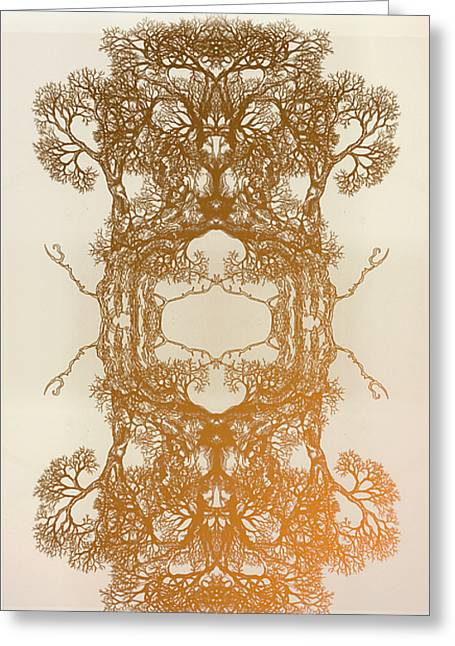 Fire In Me Tree 17 Hybrid 2 Greeting Card