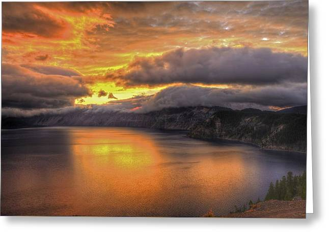 Fire In The Lake #1 Greeting Card