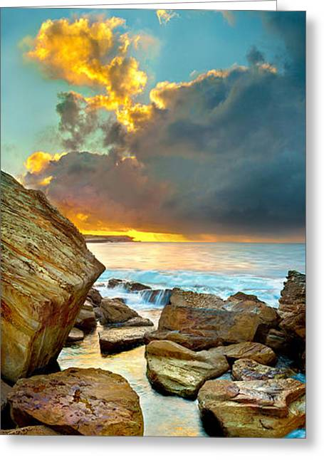 Fire In The Sky Greeting Card by Az Jackson