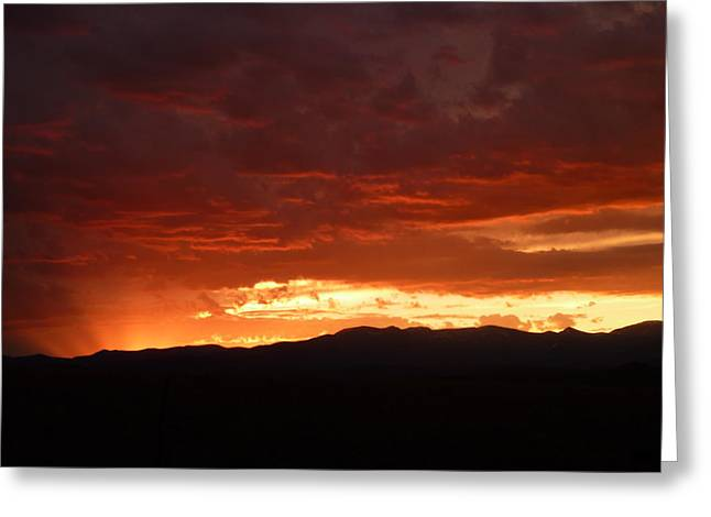 Fire In The Sky Greeting Card by Dottie Healy