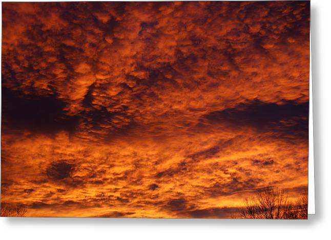 Colorado Fires Greeting Cards - Fire in the Sky Greeting Card by Ernie Echols