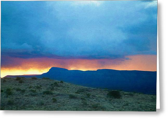 Fire In The Sky Mohave County Az Greeting Card