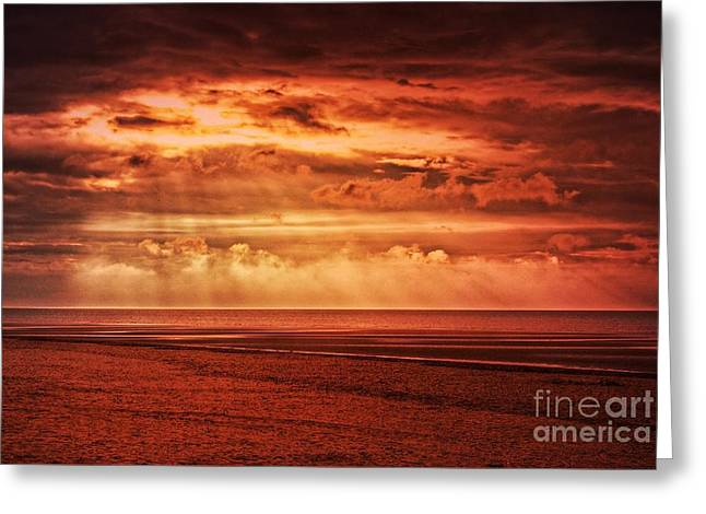 Fire In The Sky, Norfolk Greeting Card