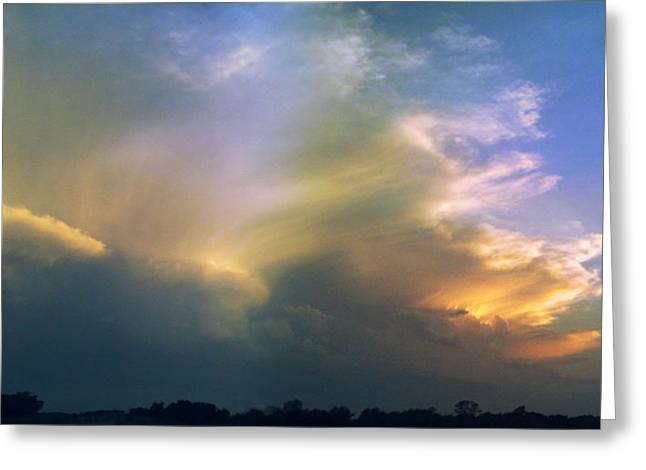 Greeting Card featuring the photograph Fire In The Sky by Rod Seel