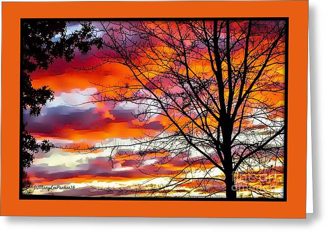 Fire Inthe Sky Greeting Card