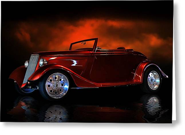 Fire Is The Lightning Greeting Card by Rat Rod Studios