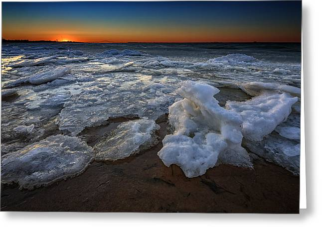 Fire Island Icy Shores Greeting Card by Rick Berk