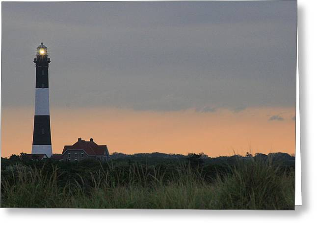 Fire Island Light Greeting Card by Christopher Kirby