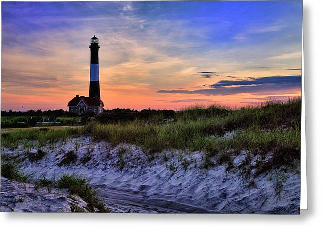 Fire Island Lighthouse Greeting Card by Rick Berk