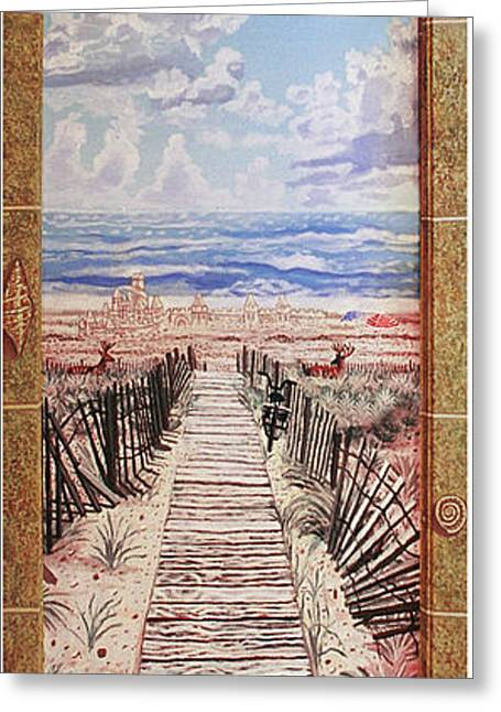 Fire Island Walkway To The Beach Greeting Card