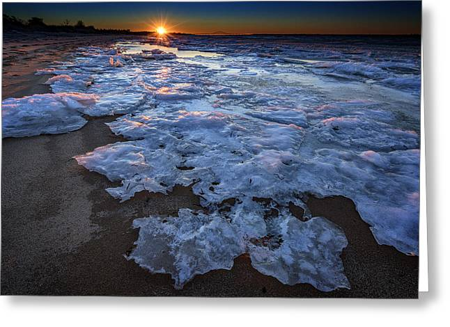 Fire Island Winter Greeting Card by Rick Berk