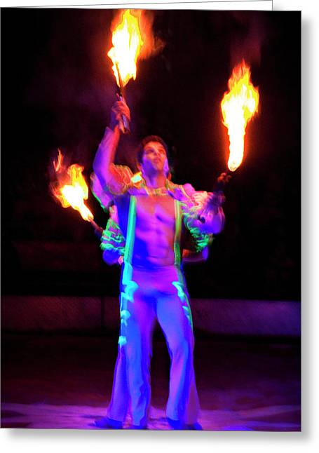 Fire Juggler Greeting Card