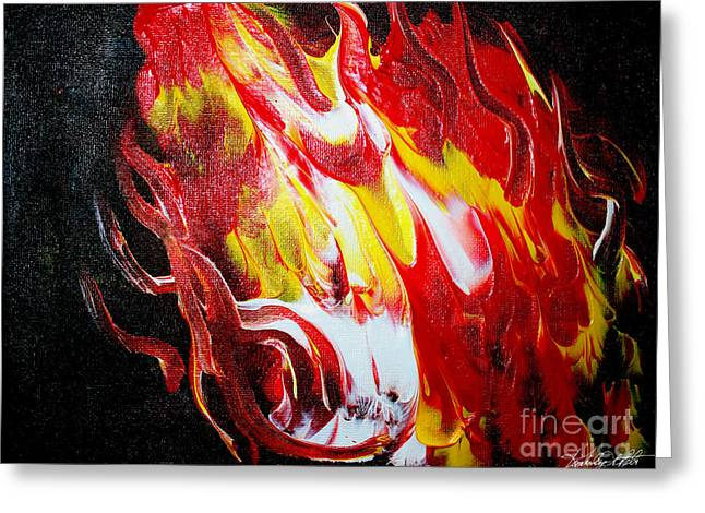 Fire 2 Greeting Card by Kim Peto