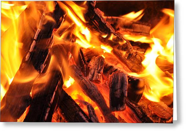 Fire Greeting Card by Leonard Voicu