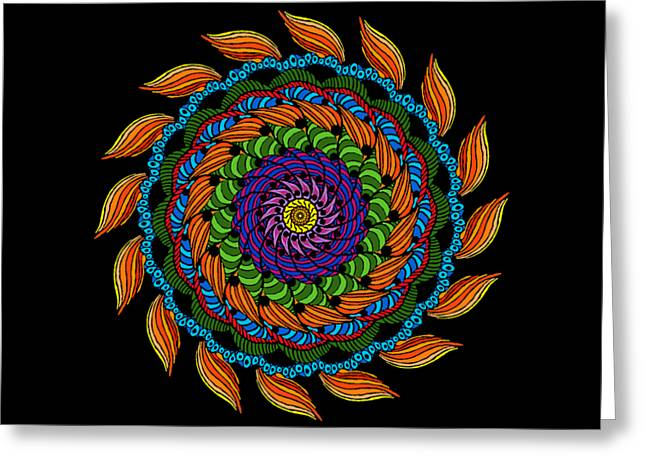 Fire Mandala Greeting Card