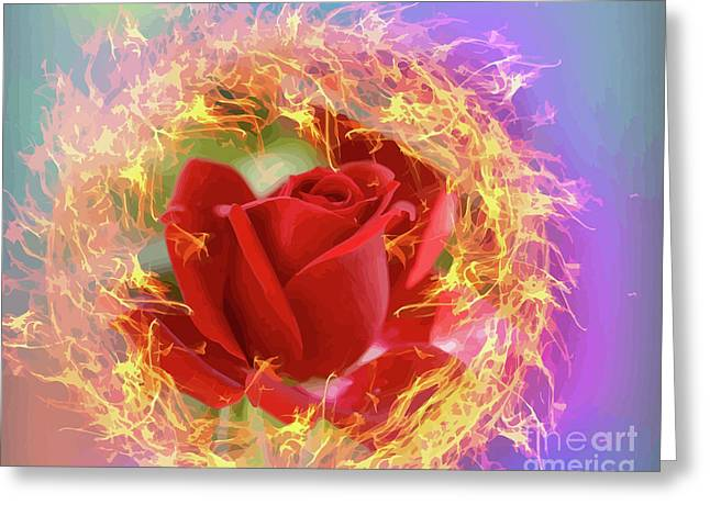 Fire Of Desire Greeting Card