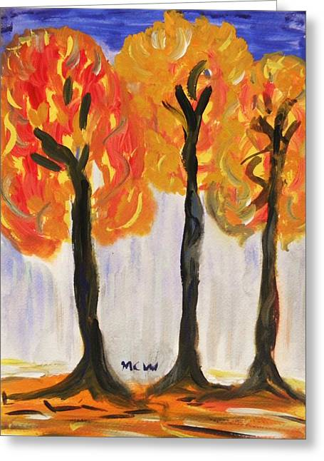 Fire Of The Wood Greeting Card by Mary Carol Williams