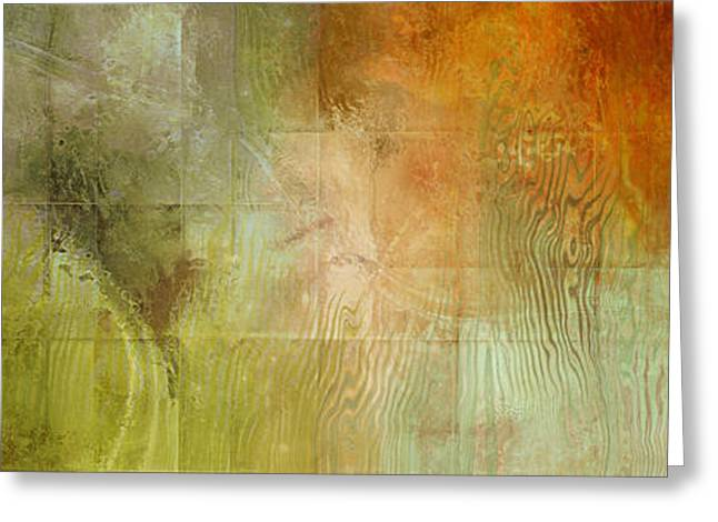 Fire On The Mountain - Abstract Art Greeting Card