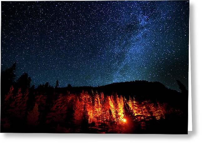 Fire On The Mountain Greeting Card by Mark Andrew Thomas